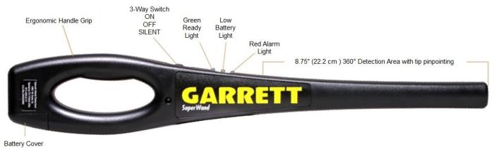 Garrett Super Wand Security Metalldetektor