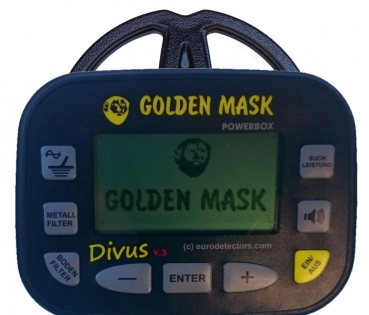 Golden Mask Divus V3 Metalldetektor Display